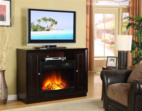 Homelegance Aruba Tv Stand With Electric Fireplace 8105