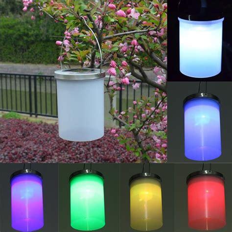 waterproof solar power hanging cylinder lanterns led