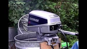 8hp Evinrude Start Up  U0026 Overview Of Adjusting Screws