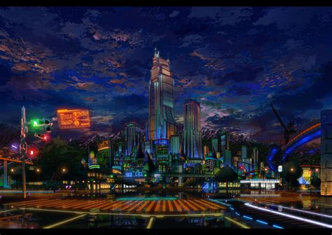 Anime City Wallpaper - city wallpaper and background image 1318x935 id 222972