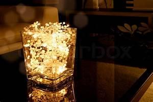 Glas Mit Lichterkette : glasschale mit weihnachten lichterkette stockfoto colourbox ~ Yasmunasinghe.com Haus und Dekorationen