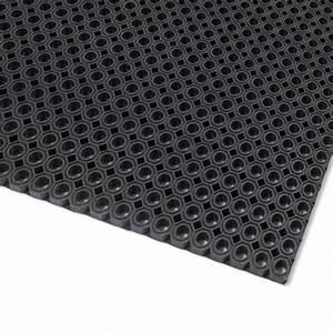 tapis caillebotis caoutchouc naturel toflex noir petits With tapis extérieur caoutchouc