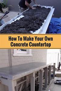 How To Make Your Own Concrete Countertop - Home and