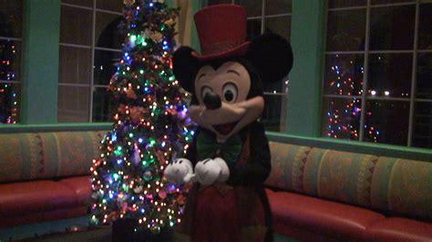 mickey mouse christmas meet greet  disneys caribbean
