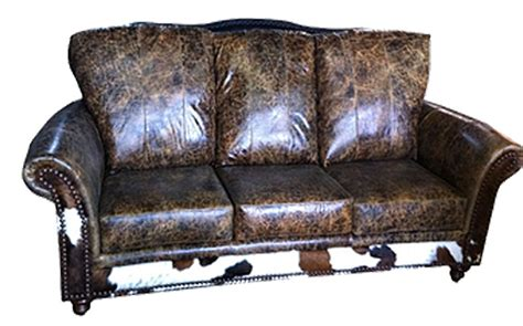 Cowhide Sectional Sofa by Rustic Cowhide Sofas Rustic Sofas Rustic Couches