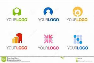 Vector Company Logo Set Royalty Free Stock Image Image