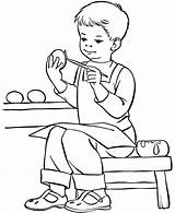 Coloring Boy Pages Printable Boys Painting Kid Books Colouring Sheets Easy Halloween Praying Egg Easter Colour Children Exciting Popular Hard sketch template