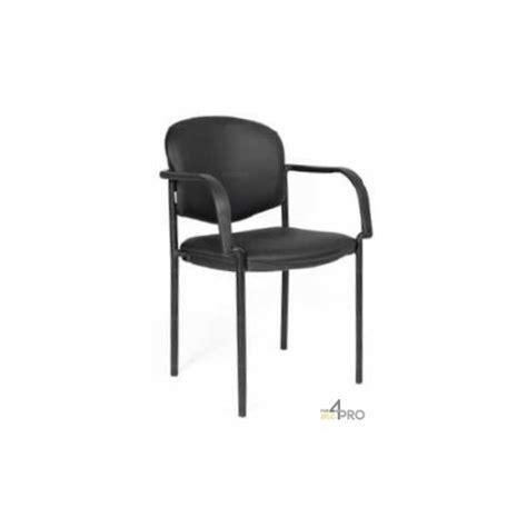 chaise visiteur avec accoudoirs chaise visiteur en cuir noir avec accoudoirs 4mepro