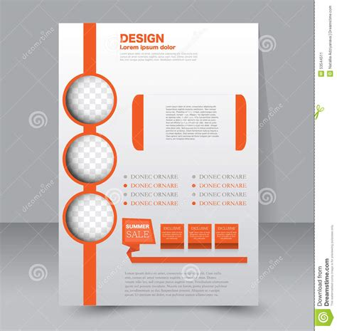 poster design template flyer template business brochure editable a4 poster stock vector illustration of headline