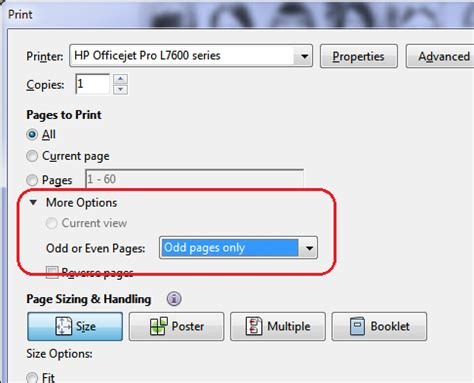 Pdf  Acrobat Readerhow To Print Only The Odd Pages?  Super User