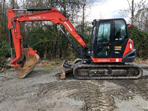 kubota kx  midi excavator  hours  sale