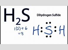 H2S Lewis Structure How to Draw the Dot Structure for