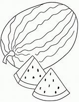 Watermelon Coloring Pages sketch template