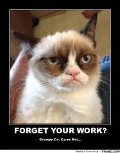 cat meme generator forget your work grumpy cat meme generator posterizer