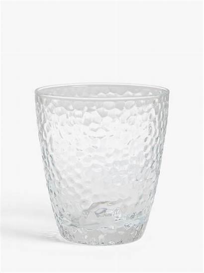 Glass Tumblers Hammered John Lewis Partners 300ml