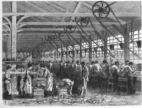 Image result for images 19th century ball bearing factory