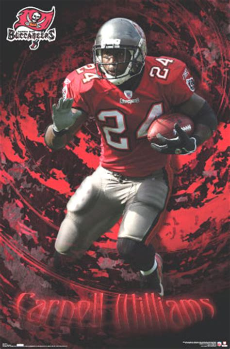 tampa bay buccaneers carnell williams football posters print