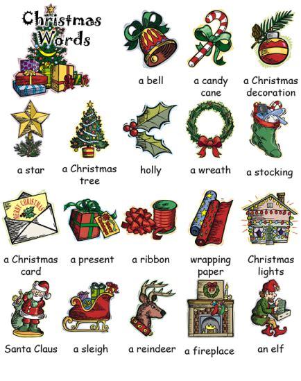 English Kids Fun Christmas Words