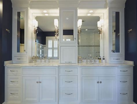 White Vanity, Upper Cabinets And Vanities On Pinterest