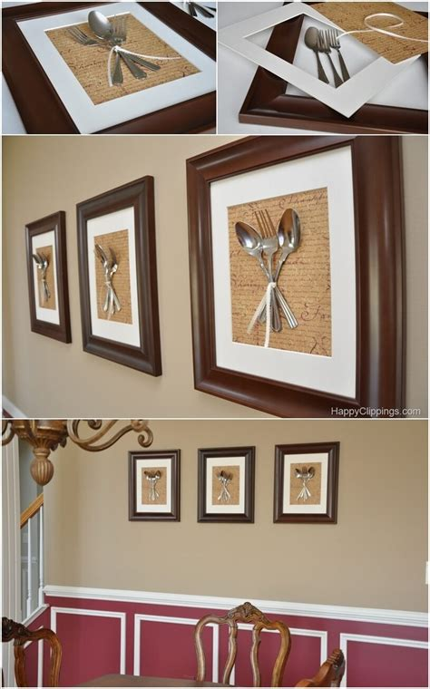 diy wall decor projects   dining room