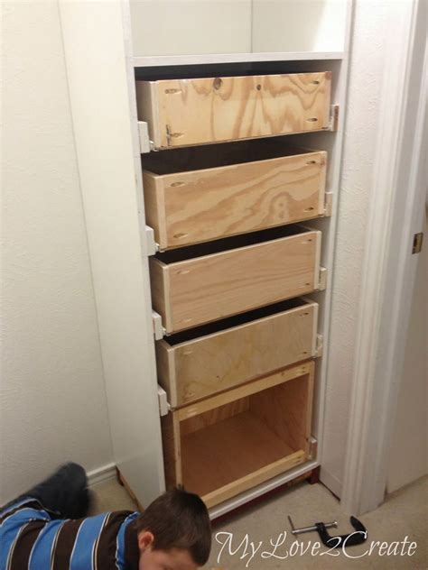 Closet With Drawers And Shelves by My 2 Create Drawers And Drawer Slides Master Closet