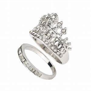 aliexpresscom buy crown wedding rings for women silver With promise ring engagement ring and wedding ring set