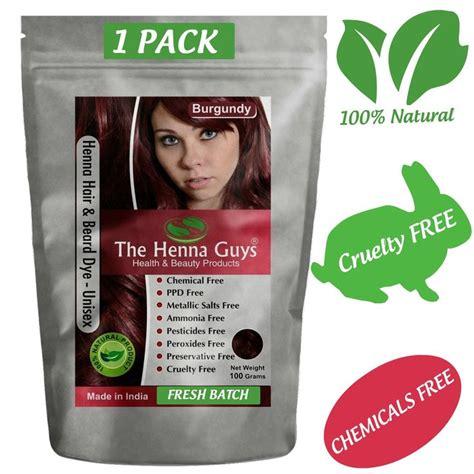 burgundy red henna hair beard dye color  pack