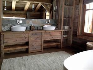 Salle De Bain Bois : salle de bain originale bois ~ Teatrodelosmanantiales.com Idées de Décoration
