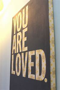 you are loved nursery art diy painting just wrap fabric With letters to paint over