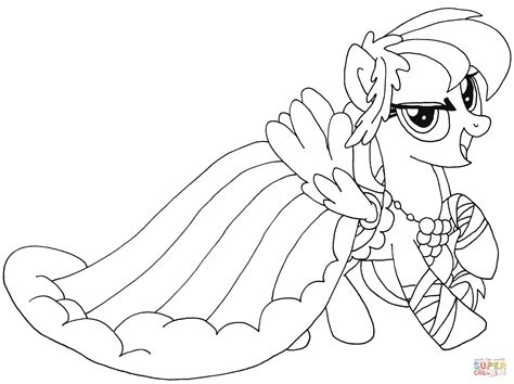 pony rainbow dash coloring pages coloring home