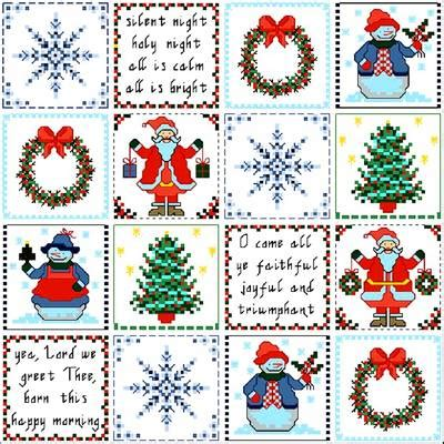 christmas patches cross stitch pattern snowflakes