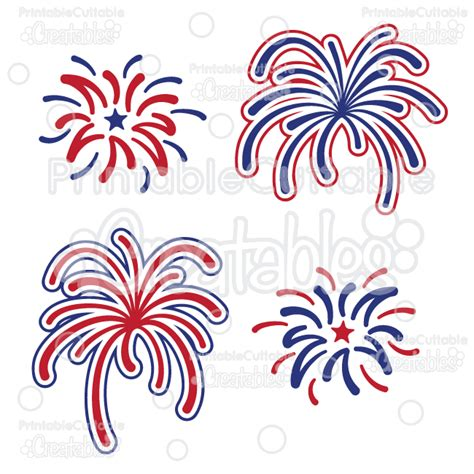 The fourth embodies everything that is summer to me. Fireworks Free SVG Cutting File & Clipart