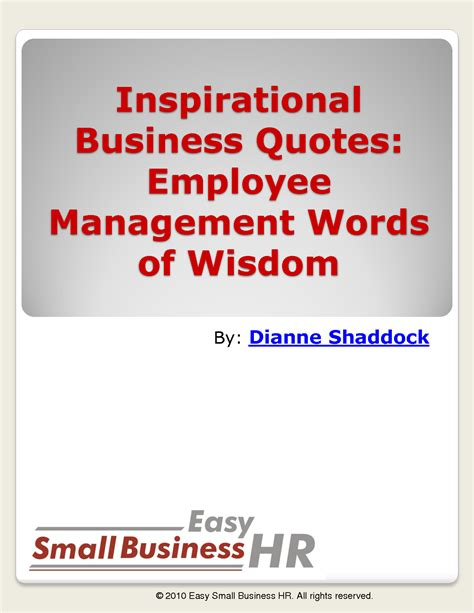 Inspirational Quotes For Employee