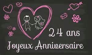 24 ans de mariage carte anniversaire mariage 24 ans tableau