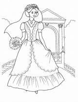 Coloring Princess Flowers Bouquet Bridal Printable Brides Coloringpages101 Colorkid sketch template