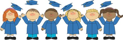 graduation clip graduation kindergarten pre k 685 | kids tossing graduation caps