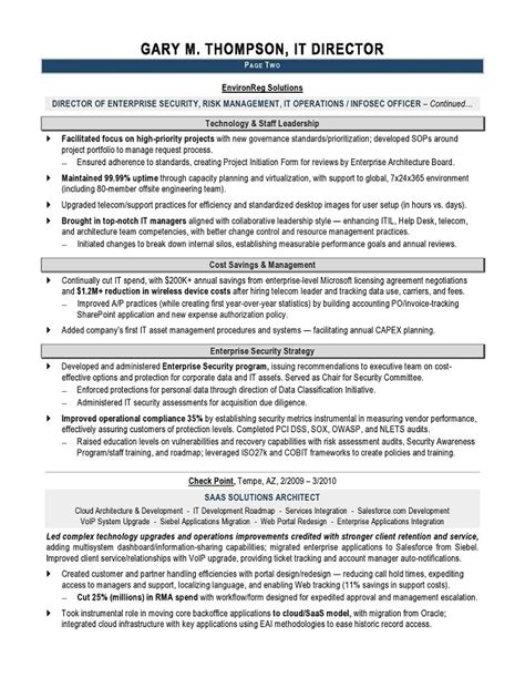 information technology manager resume the best letter sle