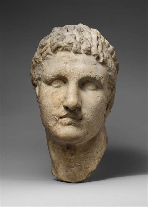 marble head   hellenistic ruler roman imperial