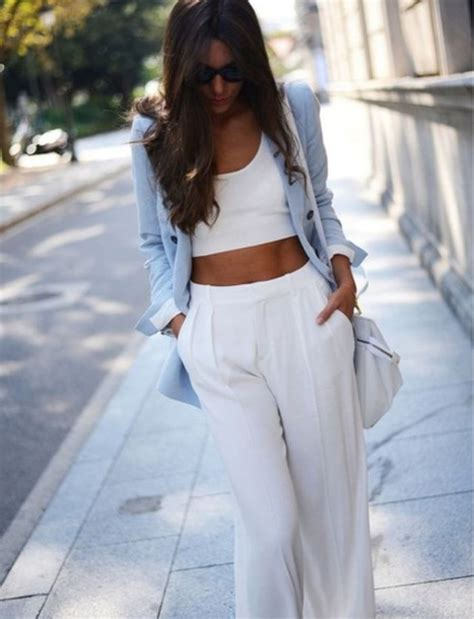 Pants white style classy dressy class women jeans loose pants loose pastel summer ...
