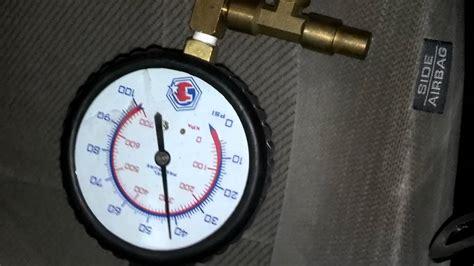 honda accord fuel pressure test youtube