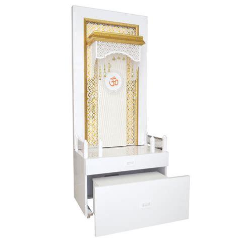 Corian Weight Designer Corian Puja Mandir For Home With Cabinet Storage