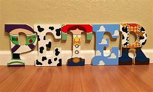 Kitchen dining for Toy story wooden letters