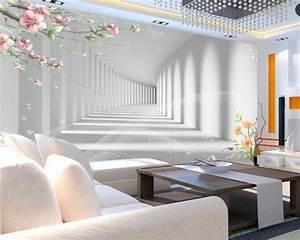 Beibehang 3D mode blume promenade 3D verlängerung raum fototapete 3D wohnzimmer schlafzimmer TV