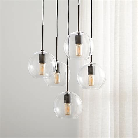 jamie cluster pendant light reviews crate  barrel