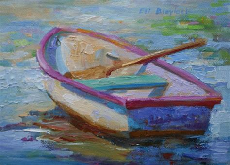 Rowboat Gallery by Daily Paintings By Elizabeth Blaylock American