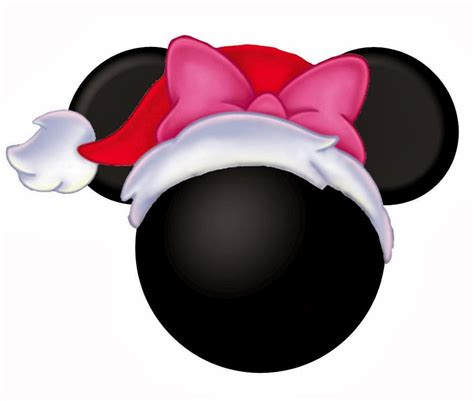 mickey and minnie heads dressed for christmas oh my