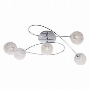 Lampe 5 Flammig : deckenleuchte leuchter deckenlampe silber 5 flammig kugel ~ Lateststills.com Haus und Dekorationen