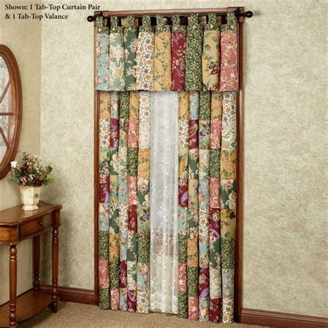 Antique Chic Tab Top Patchwork Window Treatment