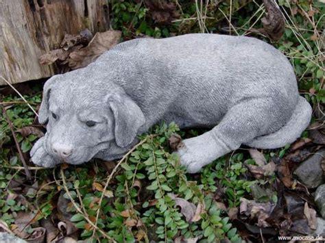 hund labrador steinfigur gartenfigur frostfester steinguss