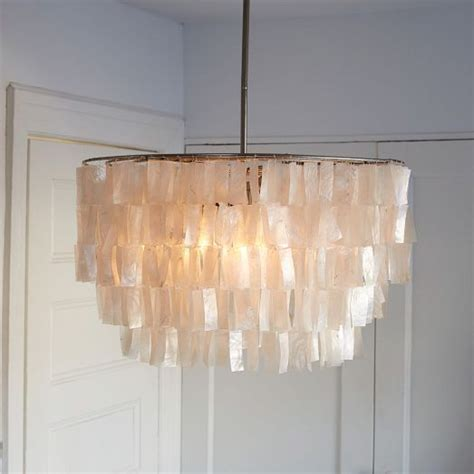 capiz chandelier white